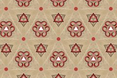 Red abstract background pattern textured. Lines and symmetrical shapes stock photo