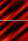 Red abstract background. Set of two red abstract curtains over black background Royalty Free Stock Images