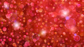 Red abstract background of small hexagons Royalty Free Stock Images