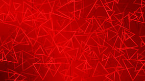 Red abstract background of small triangles Stock Images