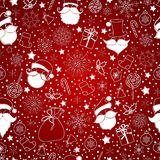 Red abstract background with snowflake Royalty Free Stock Images