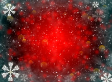 Red abstract background with snowflakes Royalty Free Stock Photo