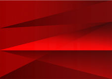 Red abstract background vector triangle and straight line royalty free illustration