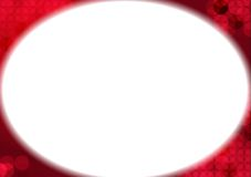 Red abstract background. With white ellipse Royalty Free Stock Photography