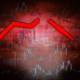 Stock market crash Royalty Free Stock Images