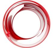 Red Abstract Ball. Red 3D rendered circular abstract design Royalty Free Stock Photo