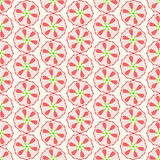 Red Abstract Ball and Flower Pattern on Pastel Background Royalty Free Stock Image