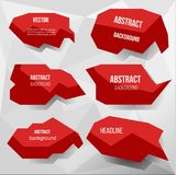Red abstract base for the text. Vectot image . dialog box vector illustration
