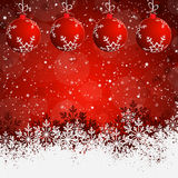 Red Abstract beauty Christmas background Royalty Free Stock Photography