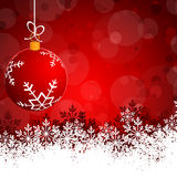 Red  Abstract beauty Christmas and New Year background Stock Image