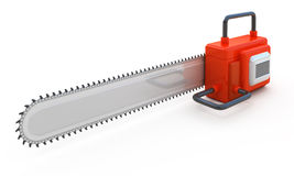 Red abstract chainsaw Royalty Free Stock Images