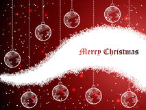 Red abstract Christmas background Royalty Free Stock Images