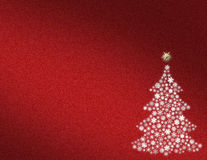 Red abstract Christmas background Stock Photography