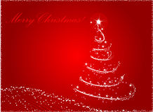 Red abstract christmas tree background Royalty Free Stock Image