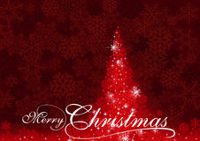 Red Abstract Christmas Tree Stock Images