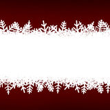 Red Abstract Christmas Winter Background with Snowflakes and Cop Royalty Free Stock Image