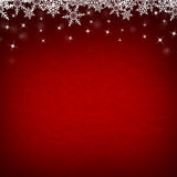 Red Abstract Christmas Winter Background with Snowflakes and Sta Royalty Free Stock Images