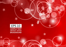 Red abstract circle and wave vector background Stock Photos