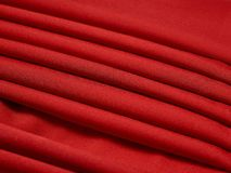 Red abstract cloth, fabric background and texture, curtain theater Stock Images