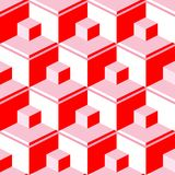 Red abstract cubes Royalty Free Stock Photo