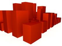 Red Abstract Cubes Stock Photos