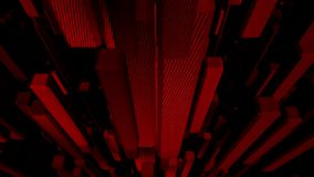 Red abstract cubes background looping. Collection stock footage