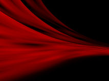 Red Abstract curtains. Over black background