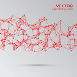 Red abstract cybernetic particles Stock Image
