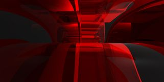 Red abstract 3D interiour design modern future Royalty Free Stock Photography