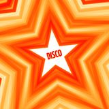 Disco star background. Red abstract disco star background. Vector illustration Royalty Free Stock Images