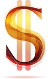 Red abstract Dollar sign Royalty Free Stock Photo