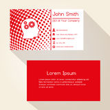 Red abstract dots business card design Royalty Free Stock Photo