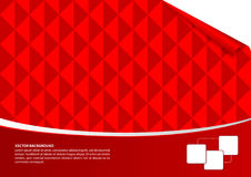 Red abstract empty background. With mosaic theme Royalty Free Stock Photo