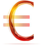 Red abstract Euro sign Stock Photography
