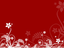 Red abstract floral background Royalty Free Stock Photography