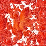 Red abstract floral ornament background Royalty Free Stock Image