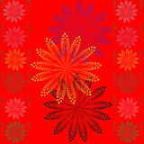 Red abstract flower background Royalty Free Stock Images