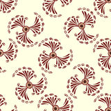 Red abstract flowers seamless pattern background Royalty Free Stock Images