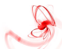 Red abstract fractal Stock Image