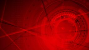 Red abstract geometric technology motion background