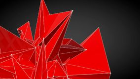 red abstract geometrical shape stock footage