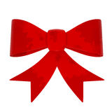 Red Abstract Gift Bow isolated on white Stock Photo