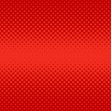 Red abstract halftone dot pattern background - vector graphic design from circles Royalty Free Stock Photos