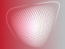 Red abstract halftone effect background Royalty Free Stock Photography