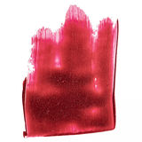 Red abstract hand painted acrylic brush strokes and splatter Royalty Free Stock Photography