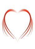 Red abstract heart. Red asbtract heart composition with flowing design royalty free illustration