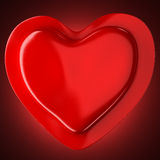 Red abstract heart Stock Photos