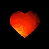 Red Abstract Heart Royalty Free Stock Photos