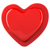 Red abstract heart Stock Photography