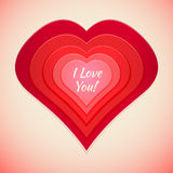 Red abstract heart label Royalty Free Stock Images